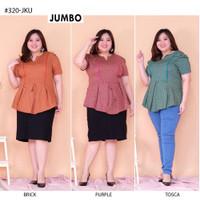 Blouse Batik Jumbo 320 Bigsize Baju Atasan Wanita Big Size vol21