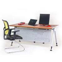 Meja Kerja Kantor Manager Minimalis Kaki Besi Aditech FR-160