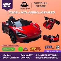 Mainan Anak Mobil Aki MCLAREN 720S LISENSI ( JOK KULIT + BAN KARET )