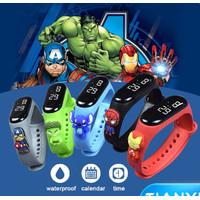 Jam Tangan Anak Elektronik LED Digital display Karakter SuperHero
