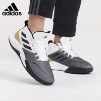Sepatu Basket Adidas Own The Game White Black Gold Original BNWB Murah