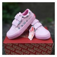sepatu anak perempuan vans oldskool pink love grade A