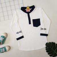 Baju Koko Kurta Anak Laki 1-5 Tahun Qurta Pakistan Jojo Kids - Kurta 2 - XS, Biru Navy