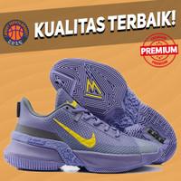 Sepatu Basket Sneakers Nike Lebron Ambassador 13 Lakers Purple Yellow