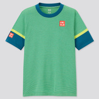Baju Tenis Uniqlo Kei Nishikori Green Tennis T-Shirt Limited Edition