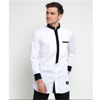 Koko Baju Muslim Pria JAMIL Bahan Cotton Toyobo Adem Lengan Panjang Pr - Putih, S