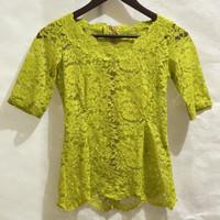 Preloved baju kebaya brokat wanita hijau