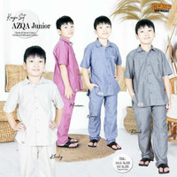 baju kemeja set anak laki laki atasan koko muslim cowok azqa tln - S