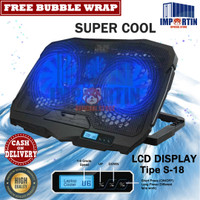 Cooling Pad Laptop Cooler Fan/ Kipas Pendingin Laptop Coolingpad LED