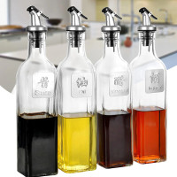Botol Minyak Kaca 500ml dengan Pourer Anti Tumpah Spill Air Tight