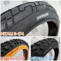 Ban Luar 20 x 2.00 Sepeda Lipat Minion BMX. SWALLOW DELI TIRE - HITAM S-178