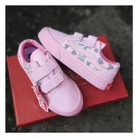 sepatu anak perempuan vans oldskool pink love grade A - Pink, 16 s/d 20