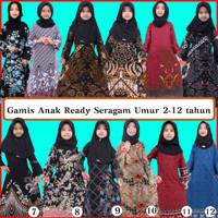 Gamis anak baju muslim anak perempuan opsi kemeja anak laki laki batik