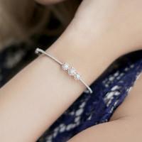 Gelang Berlian Bangle - Design Trilogy - Belva Jewellery - BABGBW01913
