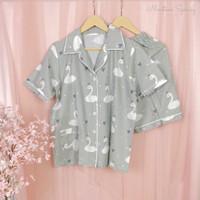 Swan in Sort Cotton Series (Piyama Premium Katun Jepang)