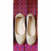 Flat Shoes Wanita Tory Burch Ballerina Premium - Ivory, 35