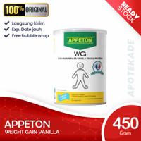 appeton weight gain wg adult 450 gr vanila