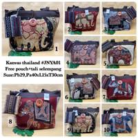 Tas Kanvas thailand JNYA01 / canvas / shoulder bag / tas gajah thai