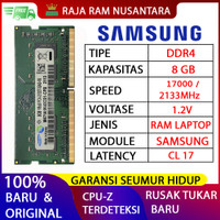 RAM LAPTOP SAMSUNG DDR4 8GB 2133 MHz 17000 ORI GAMING RAM NB DDR4 8GB