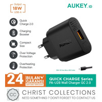 AUKEY KEPALA CHARGER FAST CHARGING 18W QC2.0 TURBO CHARGER PA-U28