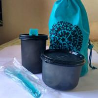 Tupperware Lunch Box Tas Bekal Ramadhan Set Tempat Makan Botol Minum