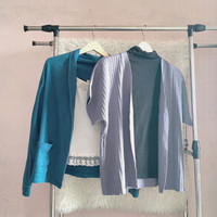 cardigan outer biru ungu free size XL preloved