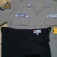 baju PDL satpam jatah asli bahan ripstok/ security/ seragam baru