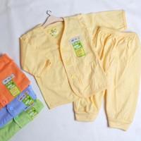 Setelan Baju Tidur Bayi Tangan Panjang Merk Mungil Polos SNI