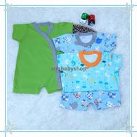 3pcs romper baju kodok bayi laki laki baru lahir 0 3 6 12 16 bulan