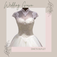 Gaun Pengantin Modern Elegan Import Putih