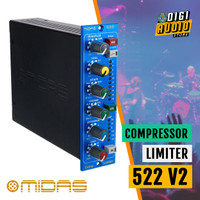 MIDAS 522 V2 - 500 Series Compressor & Limiter Audio Signal Processor