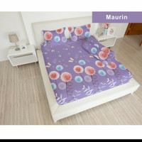 bed cover set sprei FLAT karet uk 180x200 lady rose motif Maurin