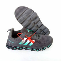 sepatu pria - adidas springblade ax2 - adidas running - black white