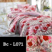 Natasha Bed cover Set + Sprei King size 180X200 BAHAN Best seller!!!