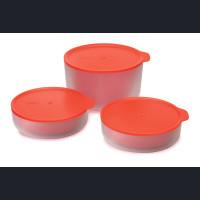 M-Cuisine 3-piece cooltouch microwave bowl set - Orange