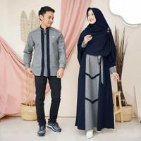 Asoka couple baju gamis pasangan Cp muslim syari Terlaris