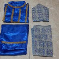 Baju Adat Palembang Anak // Sumatra Selatan - Biru bca, M