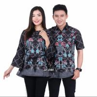 baju seragam batik couple pakaian - COUPLE ATASAN, M
