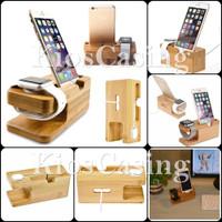 Docking Stand Holder Dock Kayu Penyangga Dudukan Handphone Smartwatch