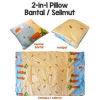 Bantal Selimut - Balmut Mini 2-in-1 - Lembut Praktis Berkualitas - BUNNY