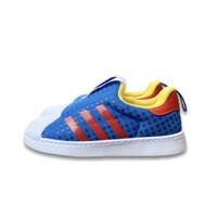 Sepatu sneakers anak adidas anak original superstar x lego blue