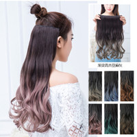 HGCP half wig wavy curly gelombang gradasi ombre hair extension clip