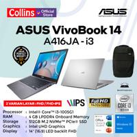 LAPTOP ASUS VIVOBOOK A416JA I3-1005G1 4GB 512GB 14 W10 KB BACKLIT OHS
