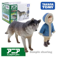 Ania Takara Tomy AS-26 Wolf Animal Mainan Figure Hewan Original