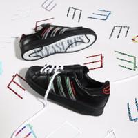Sepatu Adidas Consortium X Pleasures Superstar Black Red Original