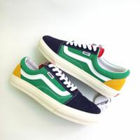Sepatu Pria Vans Old Skool Yacht Club Green White 100% Premium