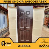 Pintu Utama / Pintu Kamar Tidur Baja JL STEEL ECO01 - Dark Brown