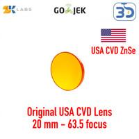 Zaiku LS CO2 Lens Lensa Mesin CO2 Laser Diameter 20 mm Focus 50.8 mm
