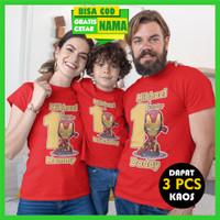 Baju Kaos Warna Couple Keluarga Family Ulang Tahun Ultah Anak Iron Man