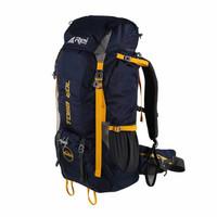Tas Gunung Carrier Keril Arei Rei Toba 60L Hiking Camping Outdoor - Navy